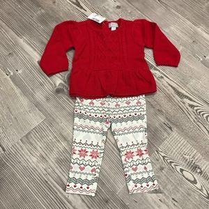 NEW Ruby Peplum Sweater Set for Baby Girl